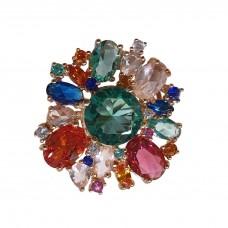 Anello Argento 925% Fiore multicolore