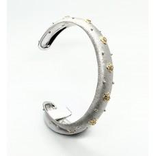 Bracciale Argento 925 Zirconi incassati e stelle d'orate