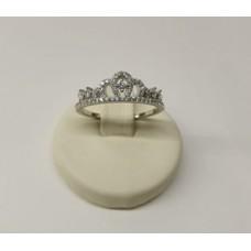 Anello argento 925 corona con zirconi incassati