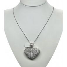 Pendente argento 925 Cuore di Zirconi