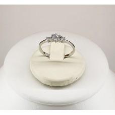 Anello argento 925% Ttrilogy zirconi taglio brillante