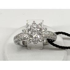 Anello argento925% Fiore di zirconi