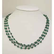 Collana Argento925% Agata Verde