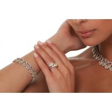 Bracciale con diamanti fantasia