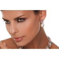 Orecchini con perle, zaffiri e diamanti