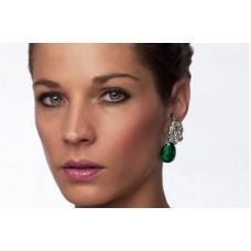 Orecchini con smeraldo e diamanti