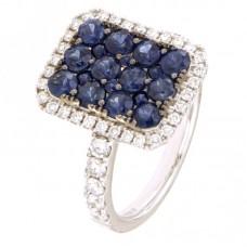 Anello con diamanti e pietre naturali - 100781R02W