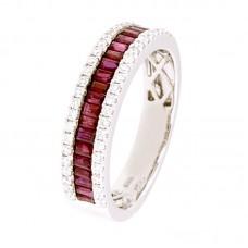 Anello con diamanti e pietre naturali - 12476R01W