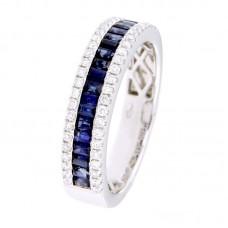 Anello con diamanti e pietre naturali - 12476R02W