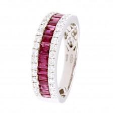 Anello con diamanti e pietre naturali - 12502R01W