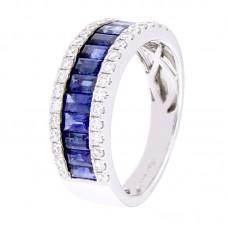 Anello con diamanti e pietre naturali - 12510R02W