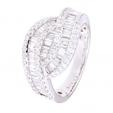 Anello con diamanti - 12694RW