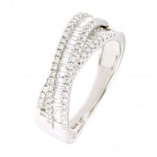 Anello con diamanti - 24043RW