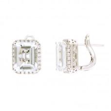 Orecchino con diamanti e pietre naturali - 326376E02ACM