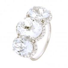 Anello con diamanti e pietre naturali - 326400R02ACM