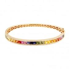 Bracciale con diamanti e pietre naturali - A00226RB11