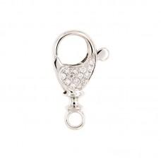 Moschettone con diamanti - BS22975PL31