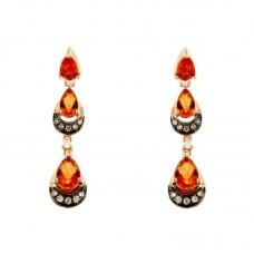 Orecchini con diamanti e pietre naturali - E42254-1