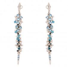 Orecchino con diamanti e pietre naturali - E46403-2