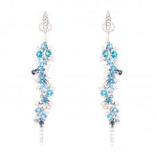 Orecchino con diamanti e pietre naturali - E46404-4