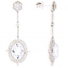 Orecchino con diamanti e pietre naturali - NSPE1964X