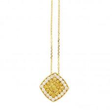 Girocollo con diamanti e pietre naturali - P00356YB08