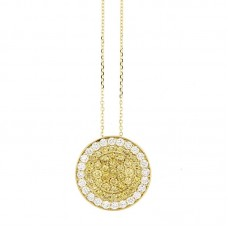 Girocollo con diamanti e pietre naturali - P00357YB08