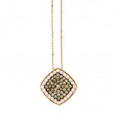 Girocollo con diamanti e pietre naturali - P00359GB02