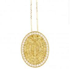 Girocollo con diamanti e pietre naturali - P00361YB08