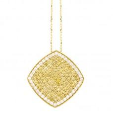 Girocollo con diamanti e pietre naturali - P00362YB08
