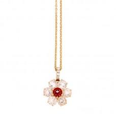 Girocollo con diamanti e pietre naturali - P31657A-3018