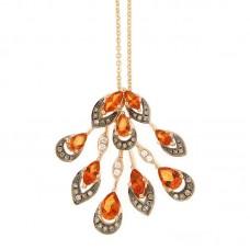 Girocollo con diamanti e pietre naturali - P42315-1