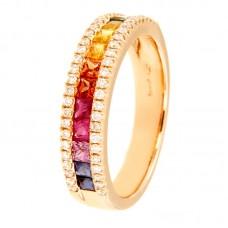 Anello con diamanti e pietre naturali - R00687RB11