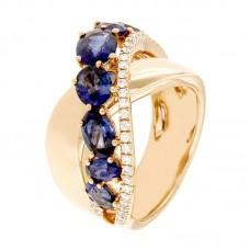 Anelli con diamanti e pietre naturali - R02286RB03