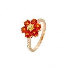 Anello con diamanti e pietre naturali - R31657A-3017