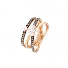 Anello con diamanti  - R39614-6