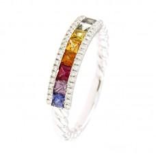Anello con diamanti  e pietre naturali - RF13450SM-01