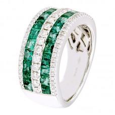 Anello con diamanti e pietre naturali - RFA3457EM-01