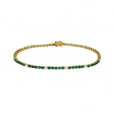 bracciale con diamanti e pietre naturali - AFA0213EM-02.