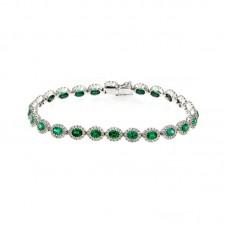bracciale con diamanti e pietre naturali - AFX0512EM03