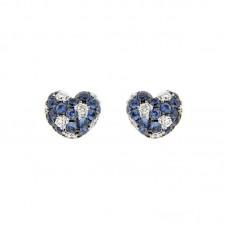 Orecchino con diamanti e pietre nuturali - E31640A-1