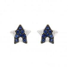 Orecchino con diamanti e pietre naturali - E34788-1