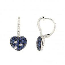 Orecchino con diamanti e pietre naturali- E37307A-1