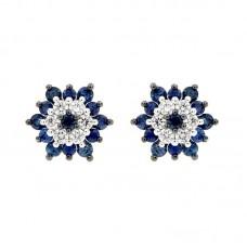 Orecchino con diamanti e pietre naturali - E43317-11