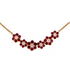 girocollo con diamanti e pietre naturali - N39603-5