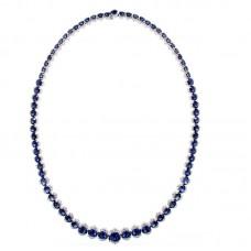 Girocollo con diamanti e pietre naturali - NCA0221BS-01