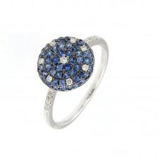 Anello con diamanti e pietre naturali - R34792A-2