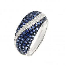 Anello con diamanti e pietre naturali - R35486A-2