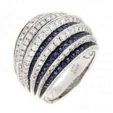 Anello con diamanti e pietre naturali - RF07113BS-01